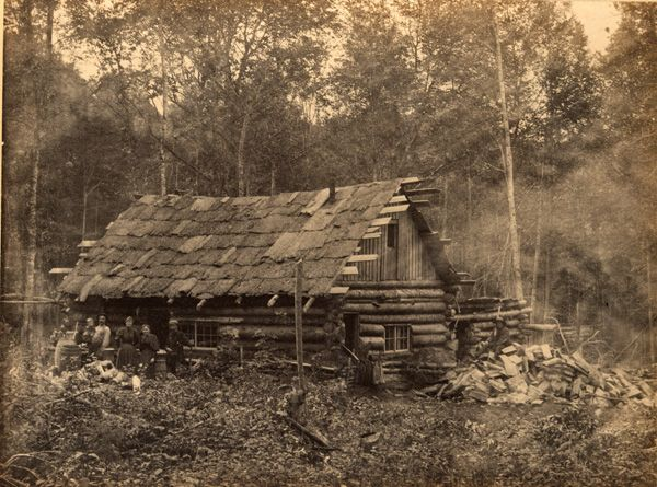 adirondack cabin in log cabin history