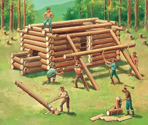 construction of log cabin history