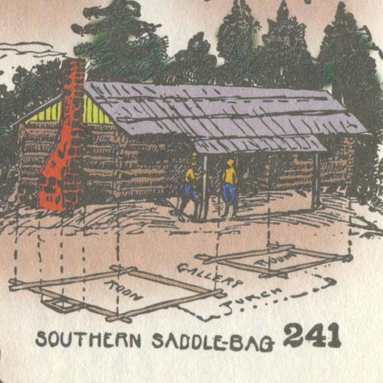 saddlebag style in log cabin history