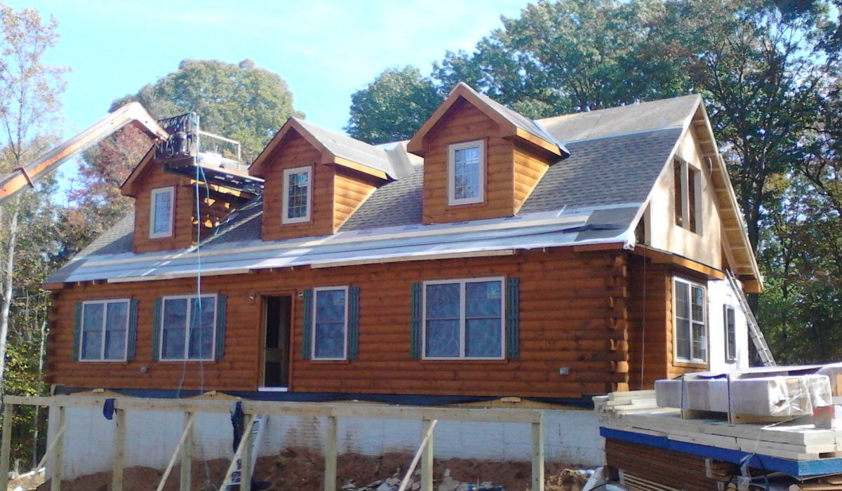 cabin building process