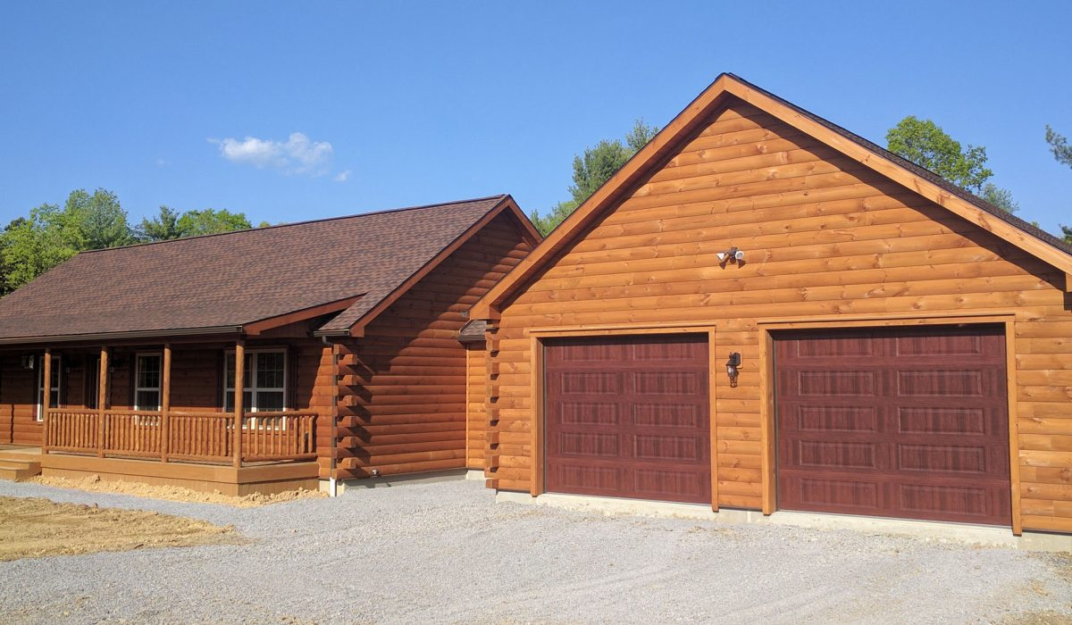 log cabin garages prefab