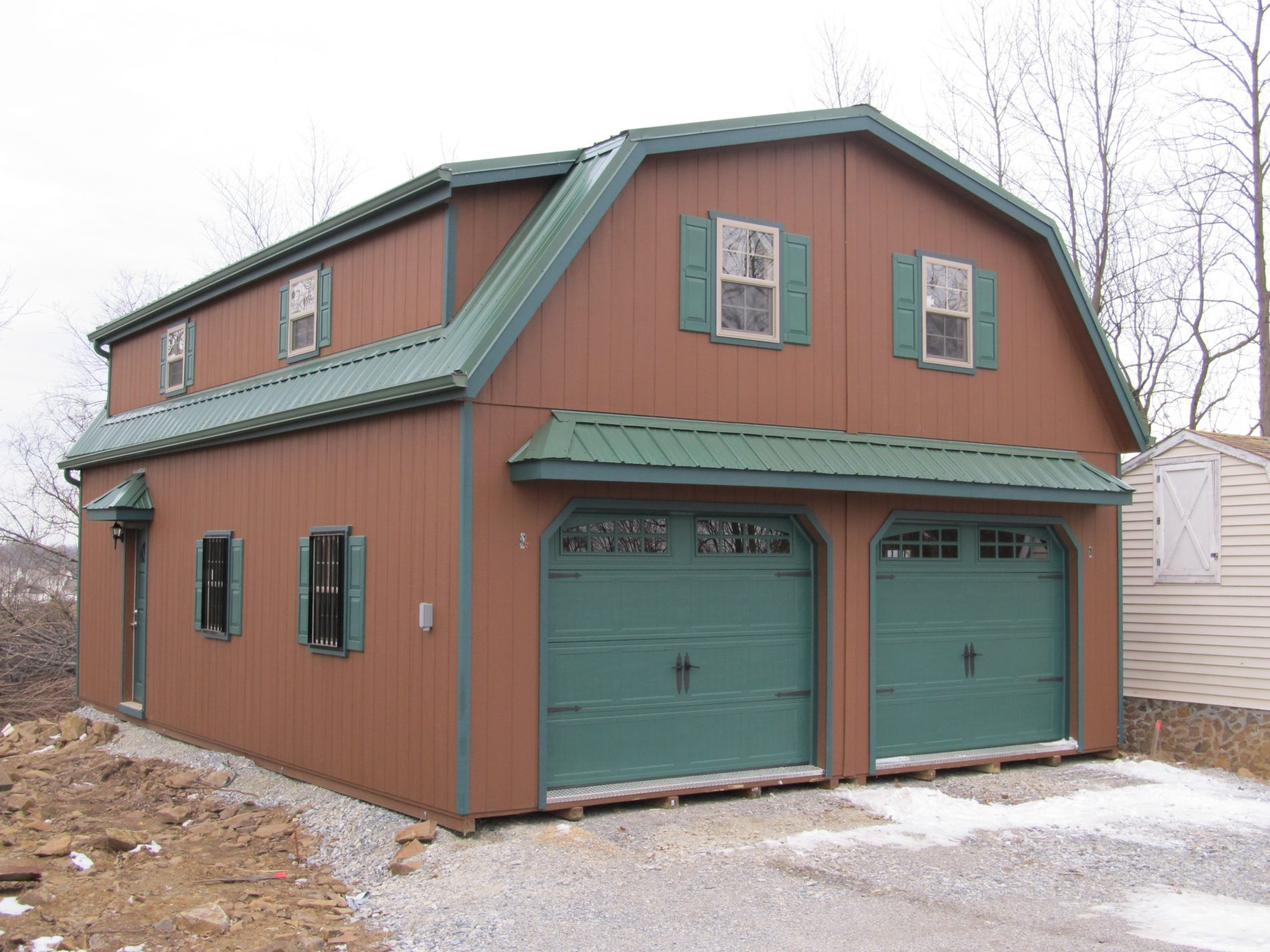 Custom garage builders prefab garages for sale zook cabins for Custom 2 car garage
