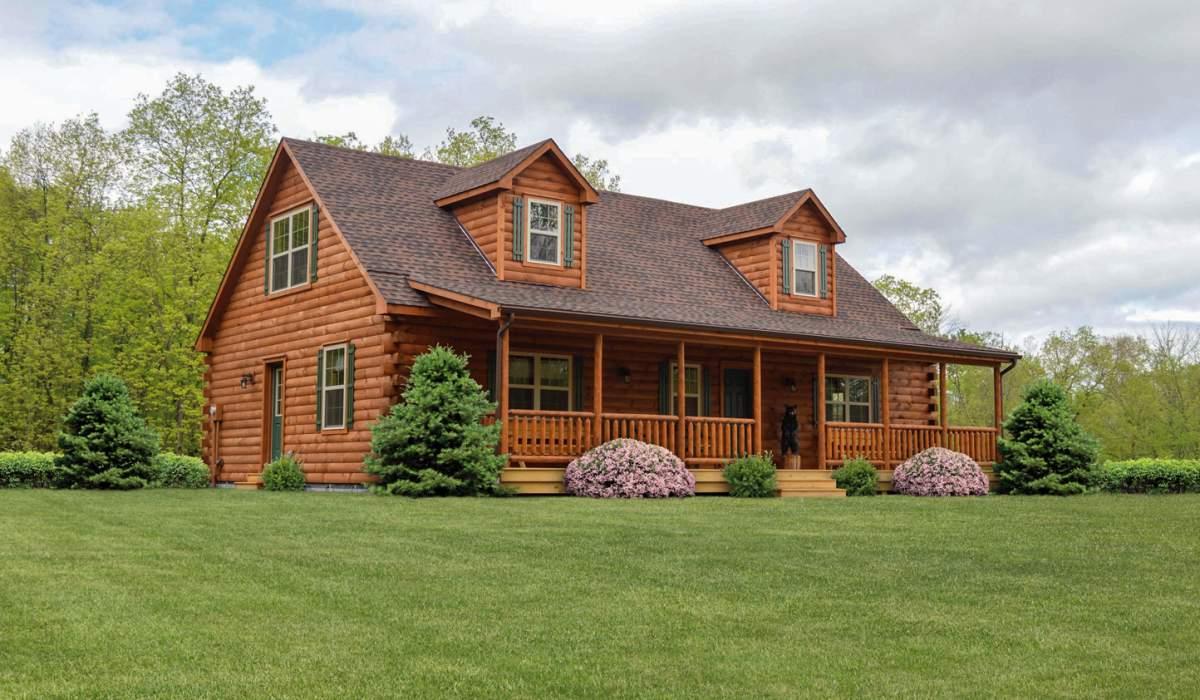 a fancy hunting cabin