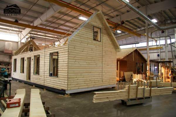 constructing hunting cabin inside giant warehouse 1