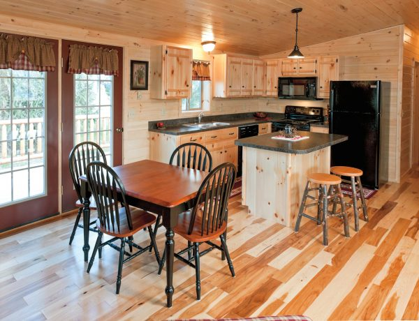 personal space kitchen in hunting cabin