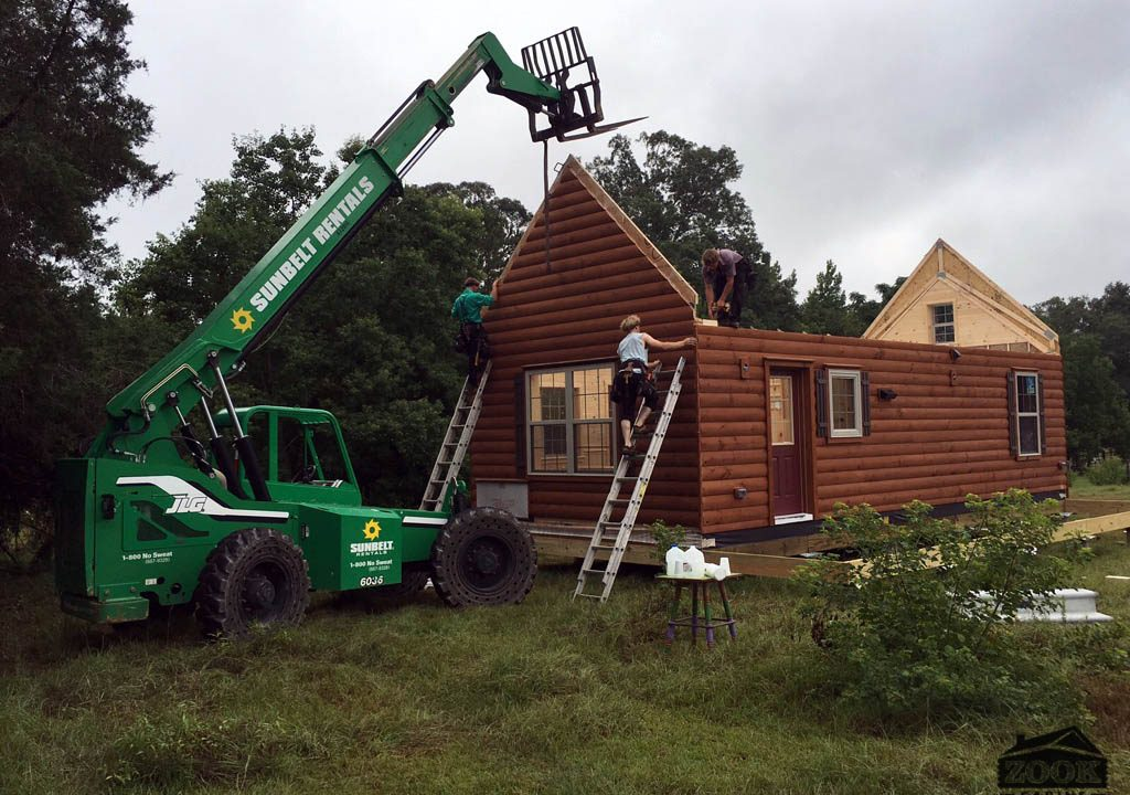 building log cabin home