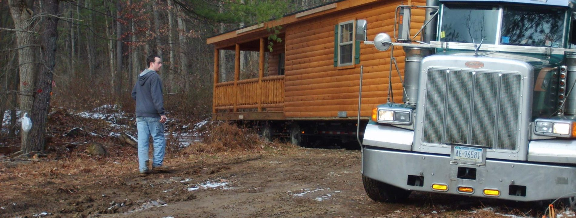 prefab hunting cabin delivery