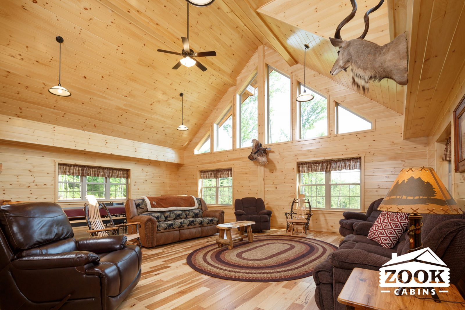 inside of a log cabin home worth buying