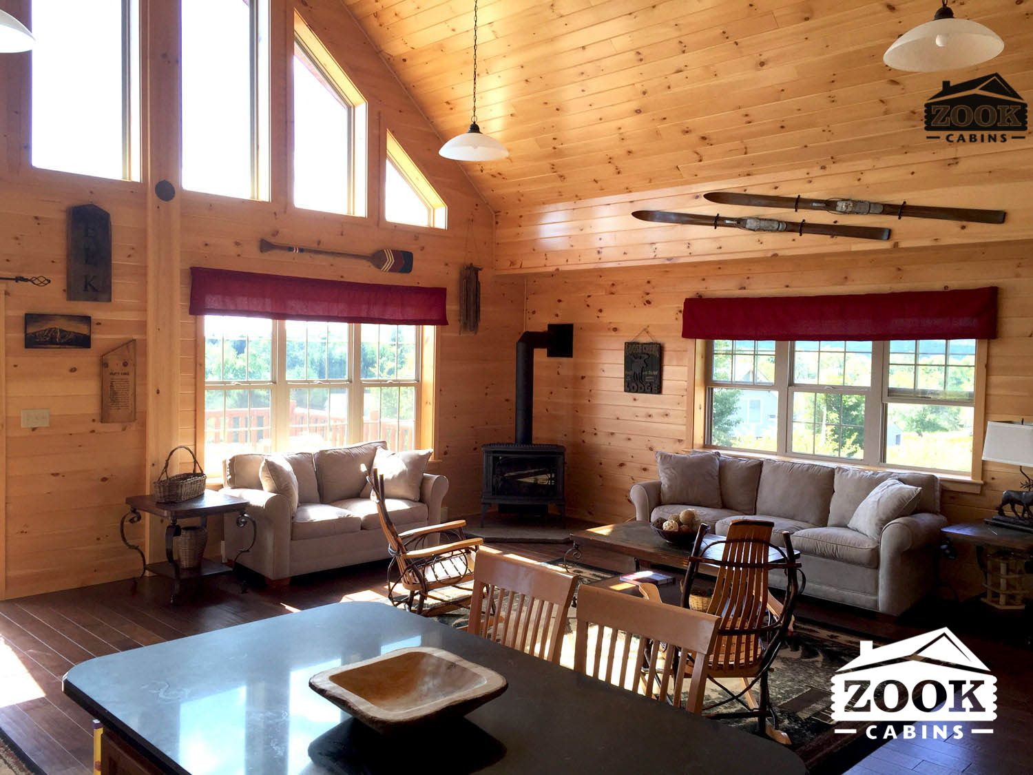 The Living room will make you love cabin living