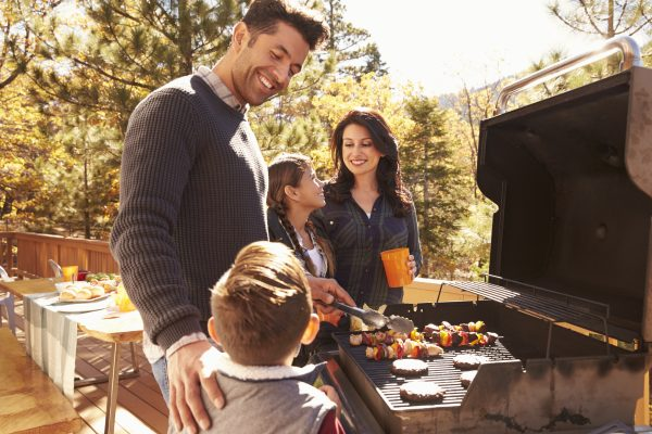 Family barbeque at a cabin worth buying