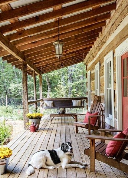 the porch of your dreams attached to a cabin worth buying