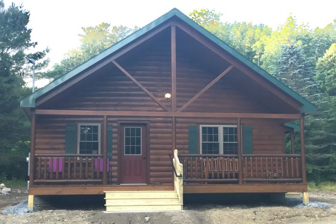new prefab cabin in berkshire massachusetts
