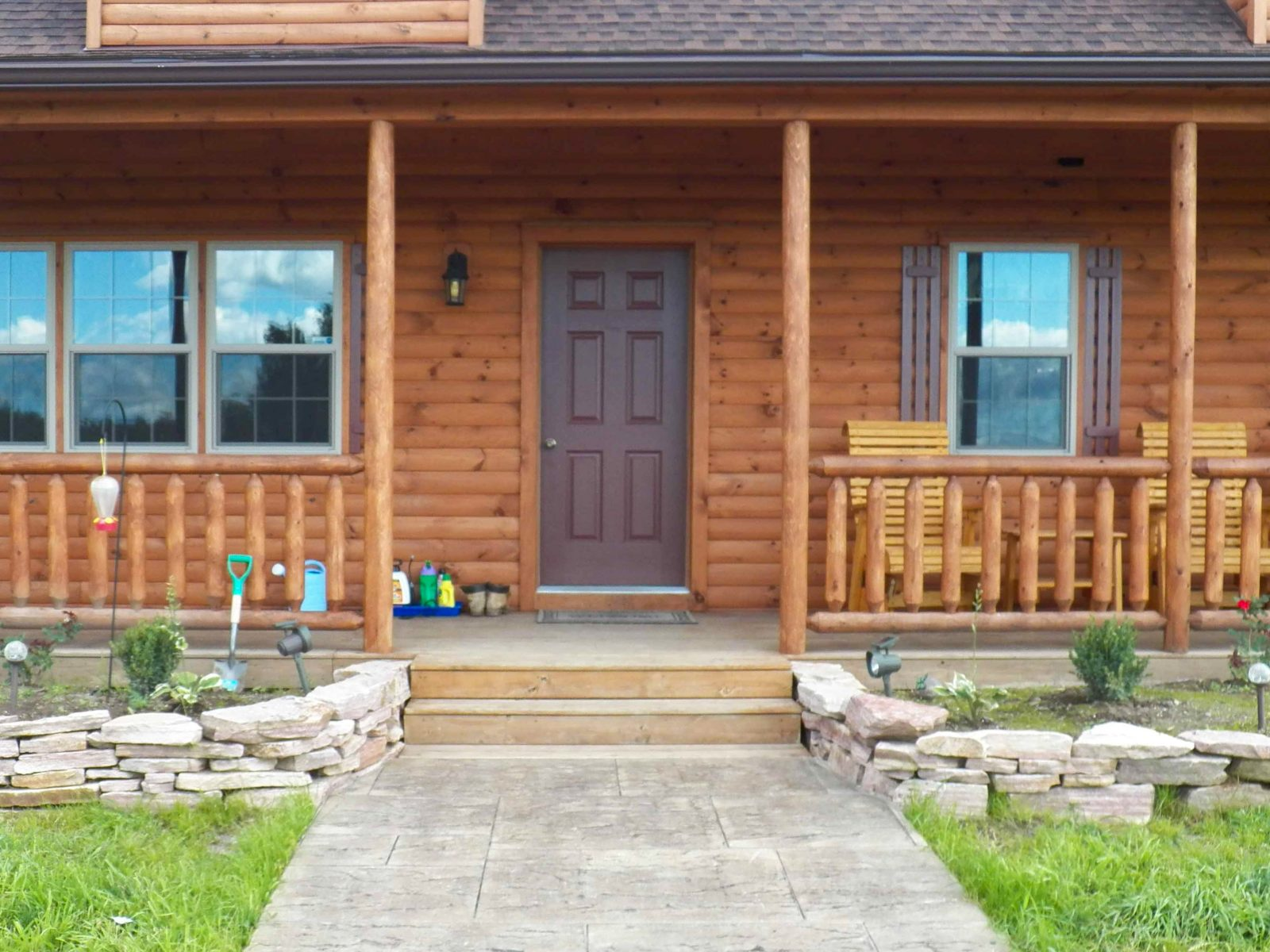 Side porch on a lofted cabin 1