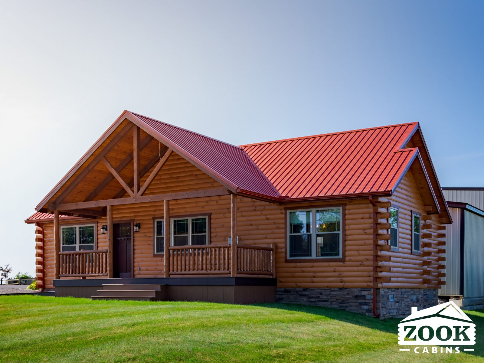 The Gable Porch ranch style cabin