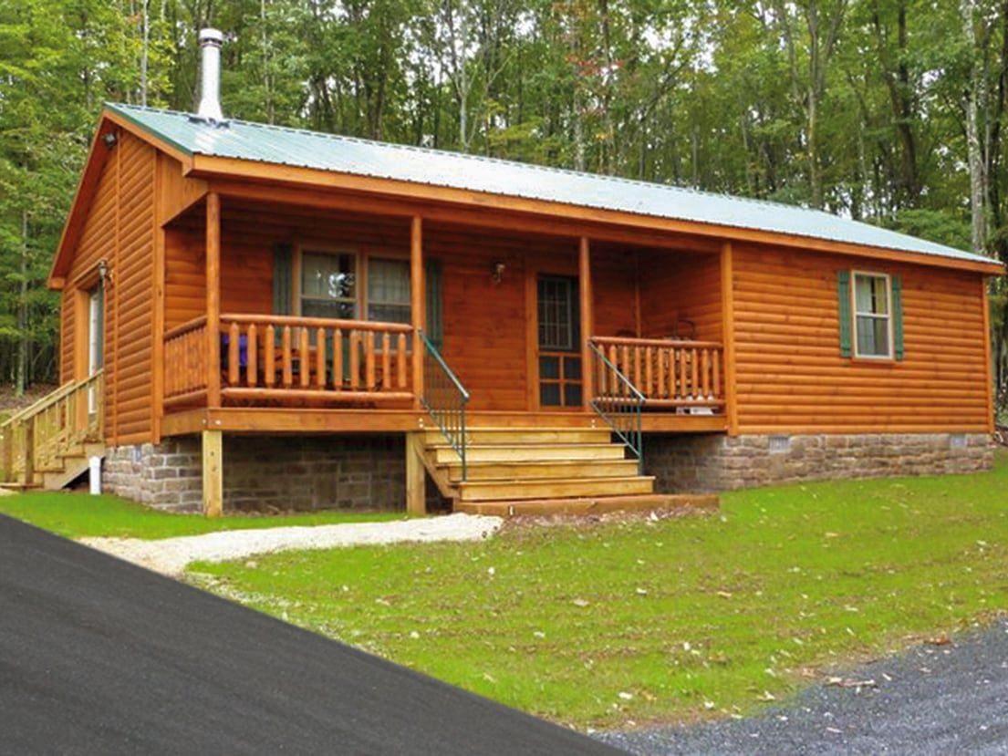 Corner porch ranch cabins 1