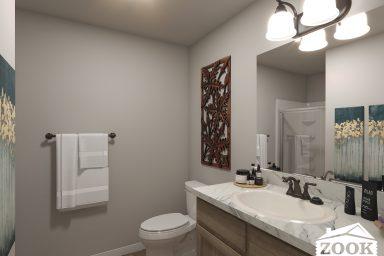 Modern Mountain Master Bathroom