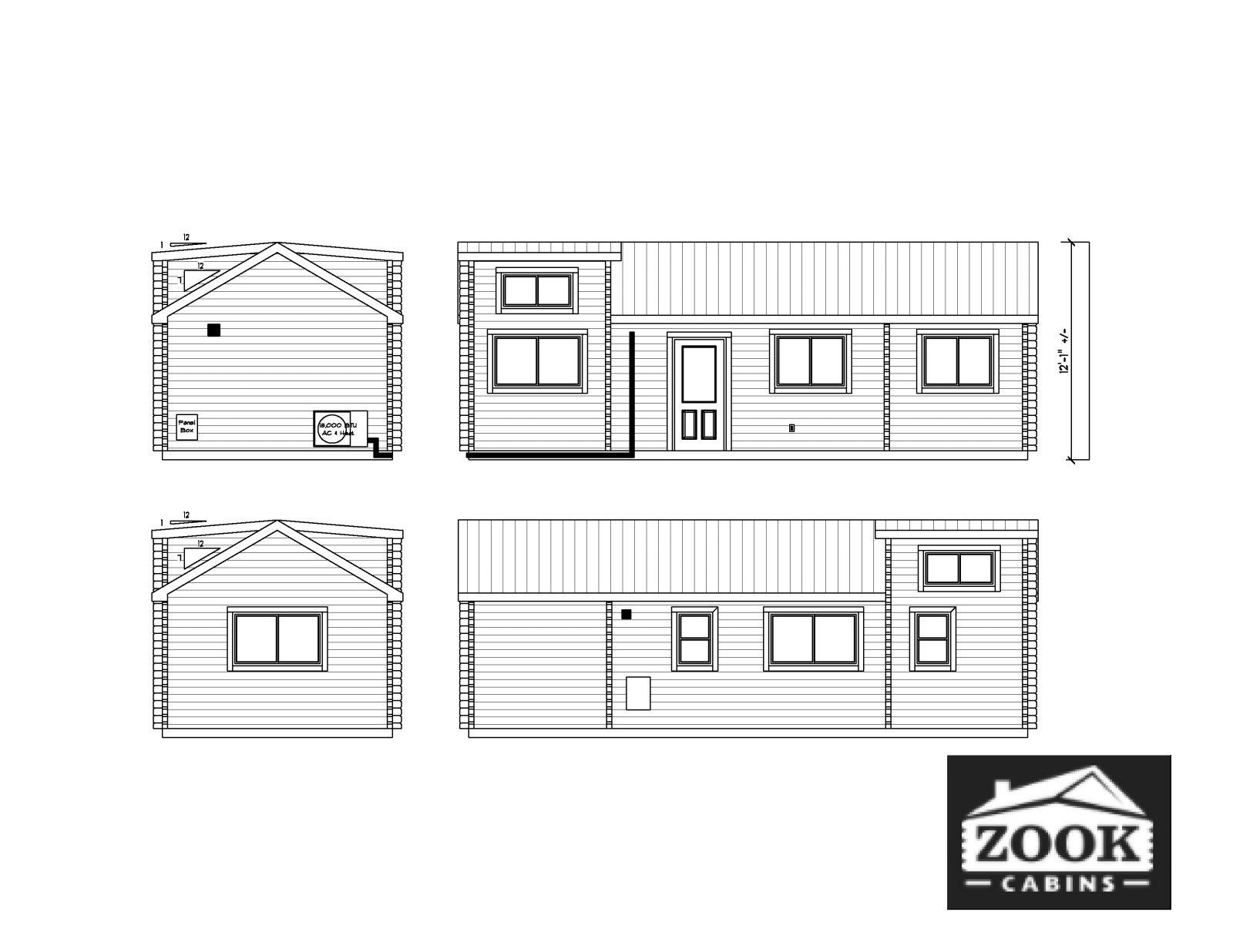 Rancher Log Cabin Exterior Floor Plan