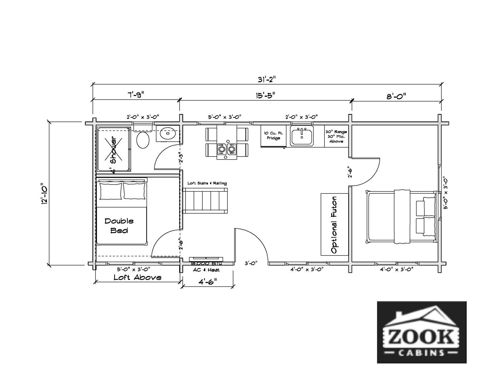 Rancher Log Cabin Interior Floor Plan