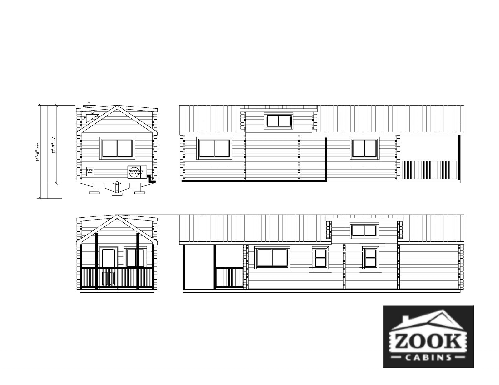 Sierra Park Model Homes Exterior Floor Plan