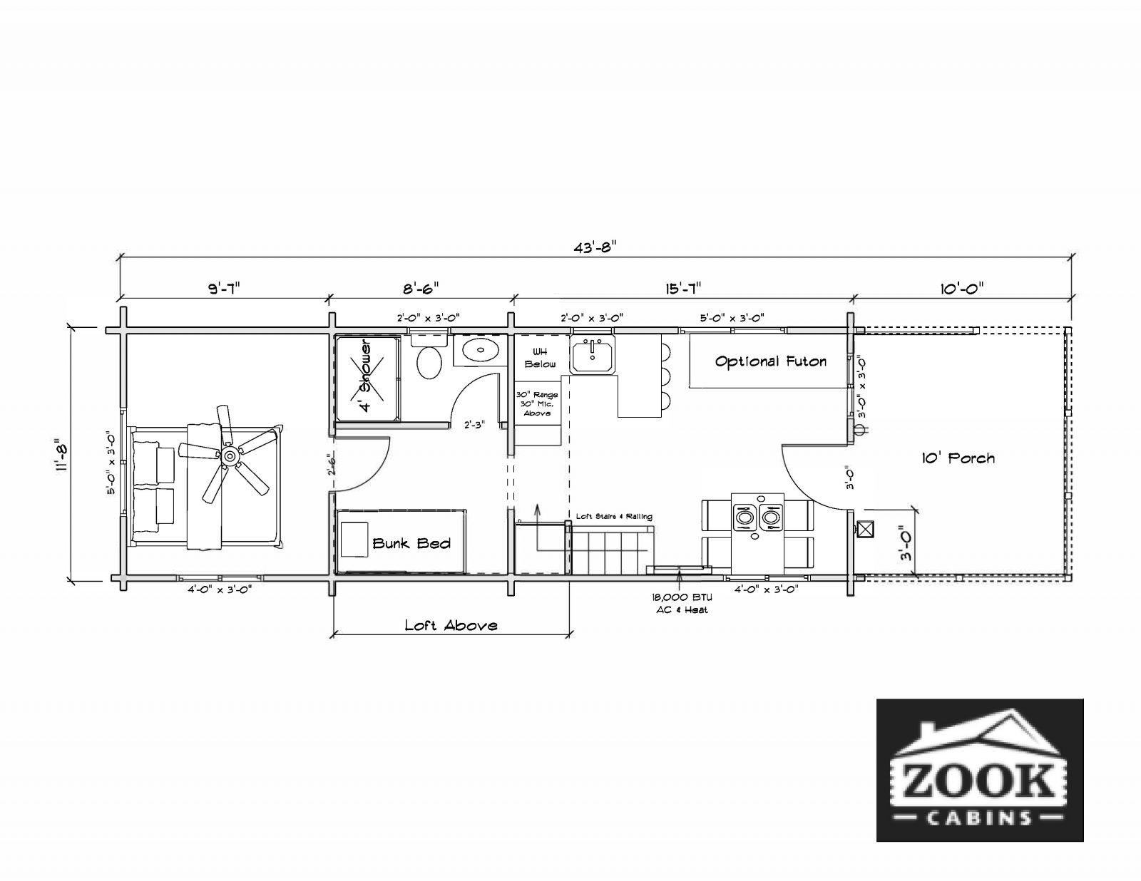 Sierra Park Model Homes Interior Floor Plan