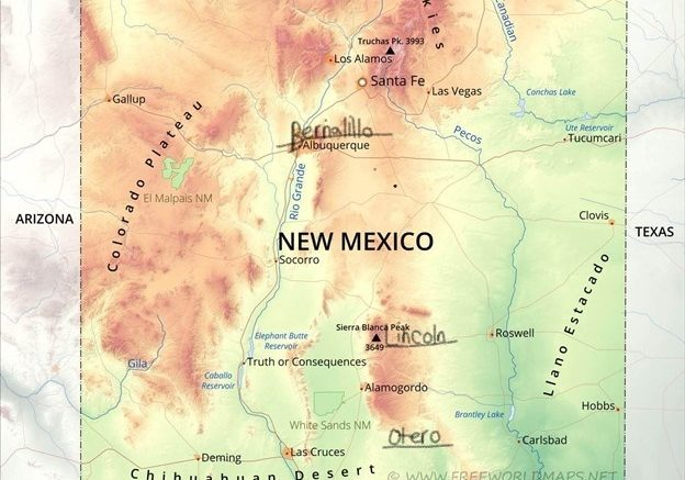 Cabin Maps in New Mexico