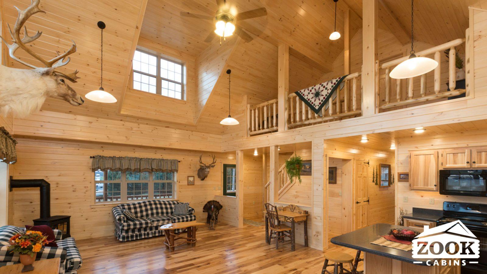 Modular Log Cabin Interior in Virginia