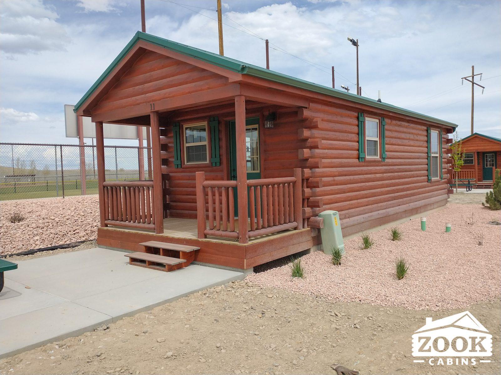The Sedona modular log cabin in virginia