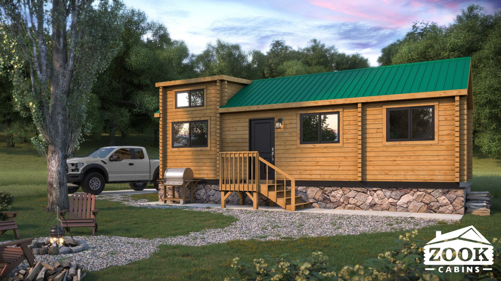 Rancher Park Model Home by Zook Cabins