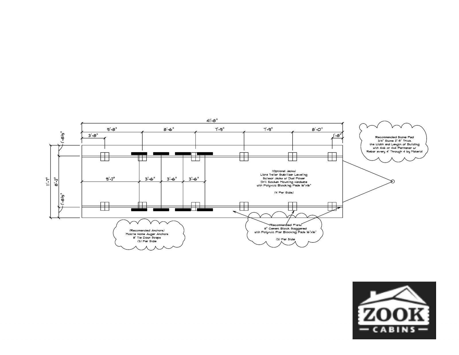 Park Model Log Cabin Floor Plan