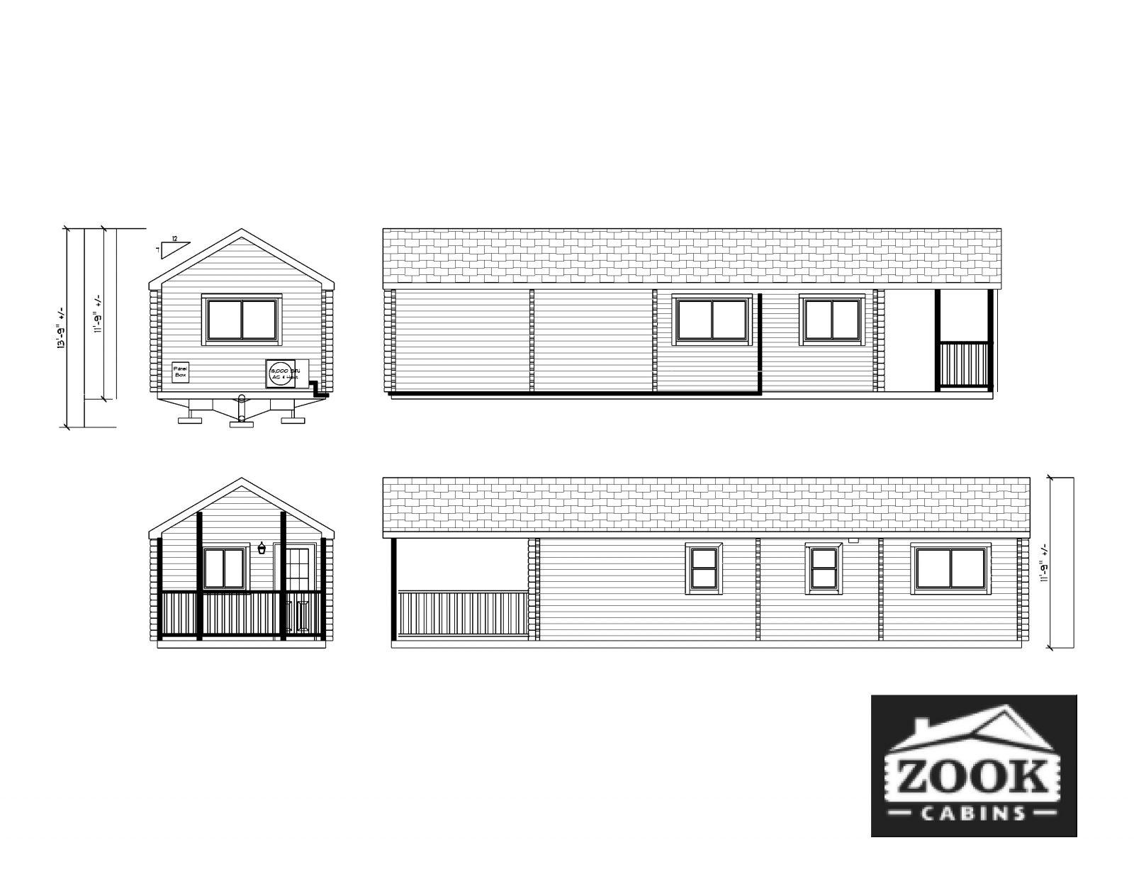 Lakeview Park Model Log Cabin Floor Plan