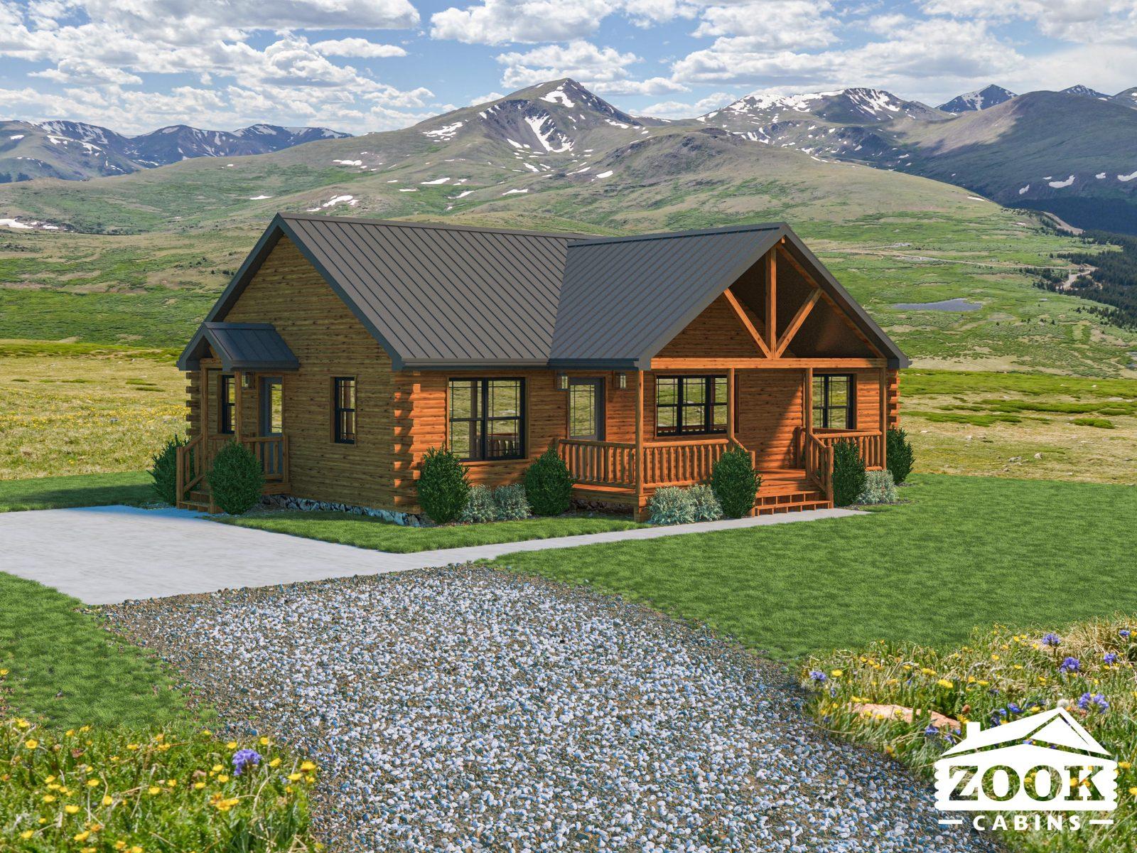 Sunset Ridge Modular Log Cabin Home in Wyoming