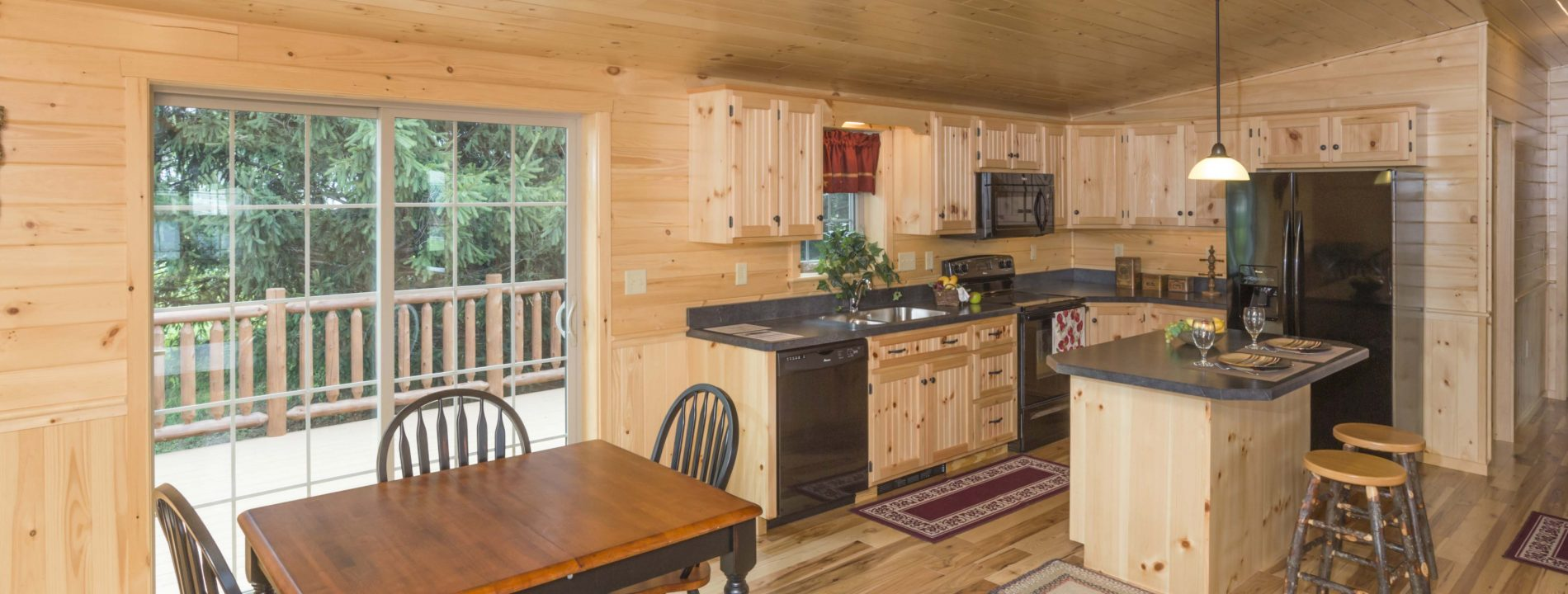 amish log cabin plans for interior of fronteir log homes