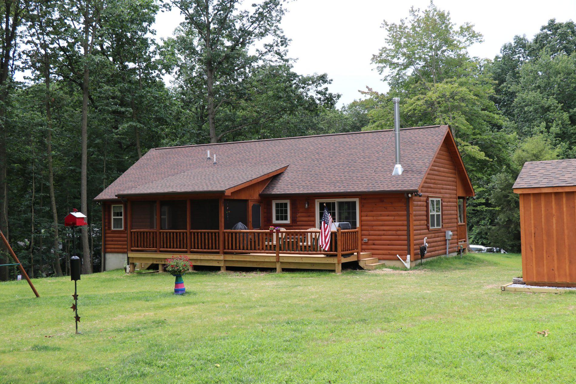 Amish Prefab Houses : Frontier cabins log cabin plans prefab floor