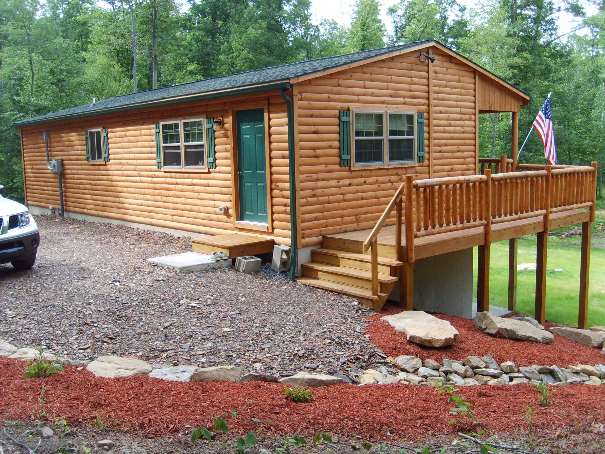 frontier log cabins