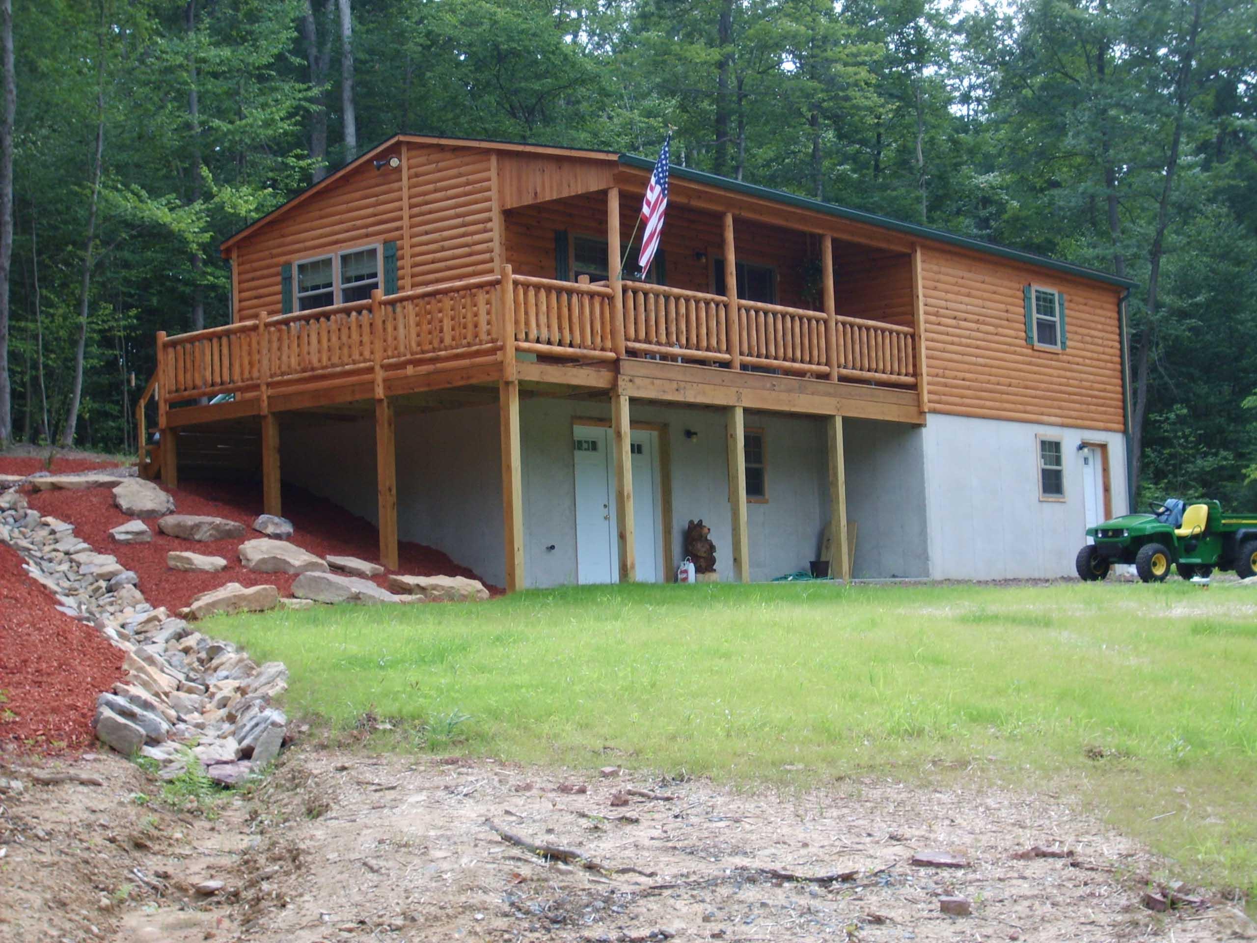 prefab frontier log cabins