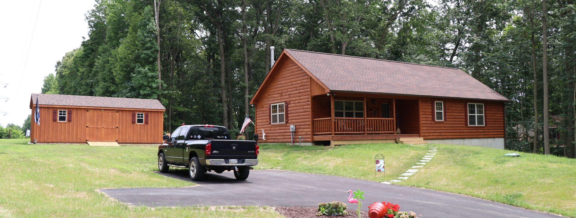 prefab log cabin plans
