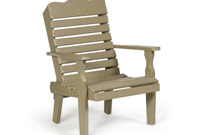 curve back chair outdoor poly furniture