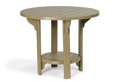 round dining table poly furniture for cabins