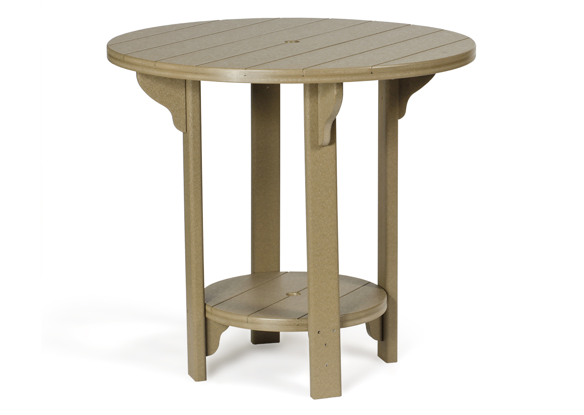 Amish poly outdoor furniture poly lumber patio furniture round pub table 42 inch outdoor poly cabin furniture watchthetrailerfo