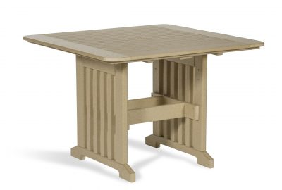 square dining table poly furniture for cabins