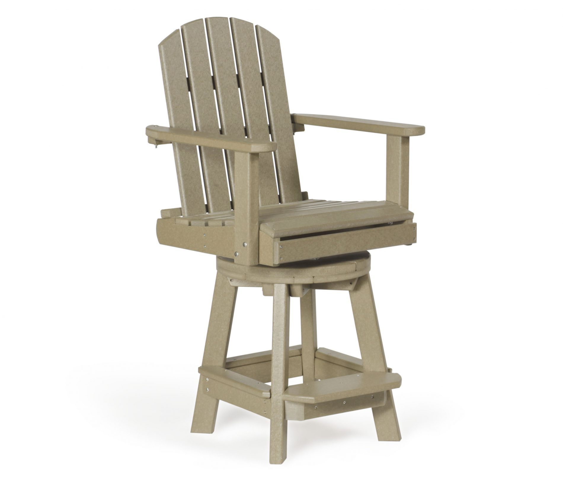 Swivel Pub Chair Outdoor Poly Cabin Furniture