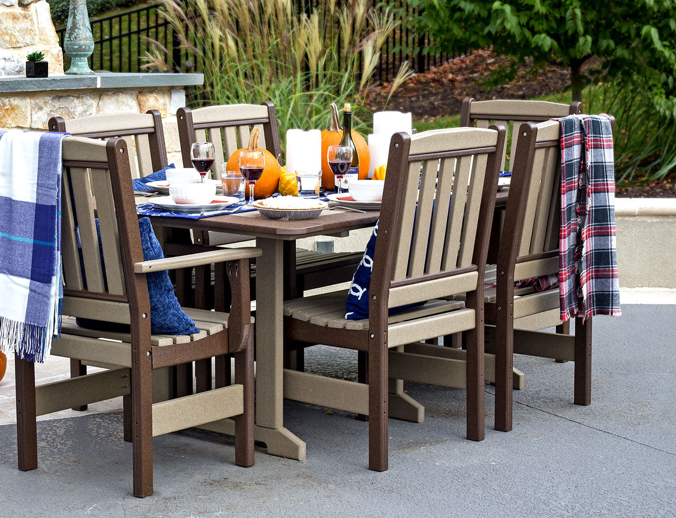 Poly Lumber Dining - Amish Poly Outdoor Furniture Poly Lumber Patio Furniture