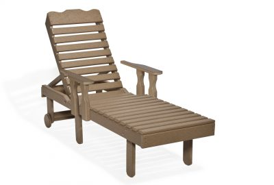 chaise lounge with arms poly furniture for cabins