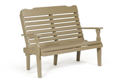 curve back bench poly furniture for cabins