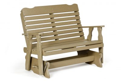 curve back double glider poly furniture for cabins