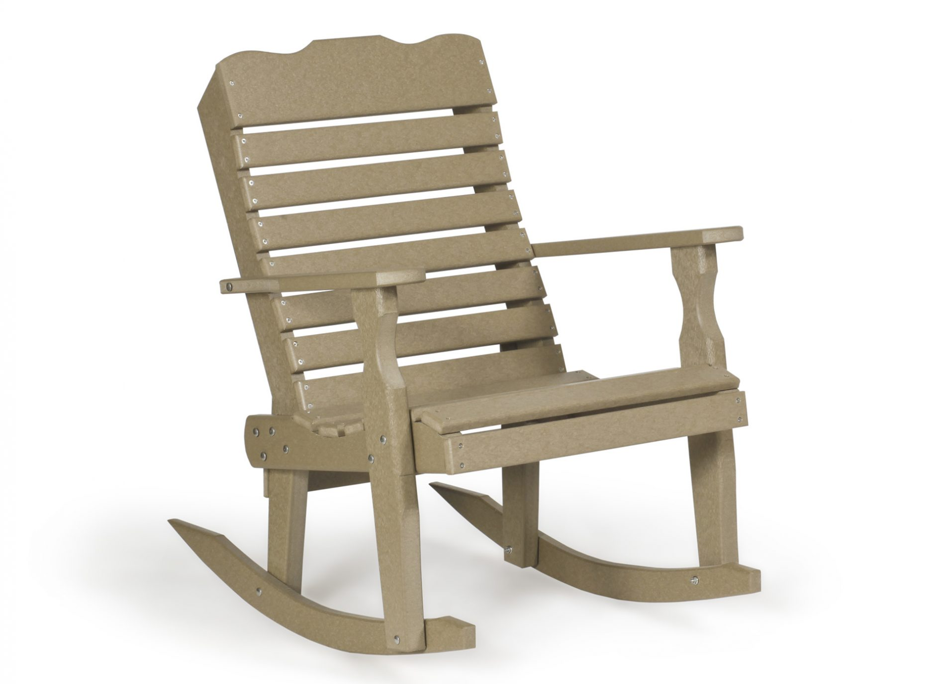 Curve Back Rocker Poly Furniture For Cabins