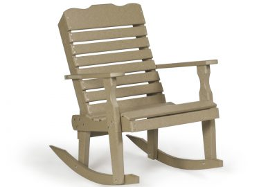 curve back rocker poly furniture for cabins