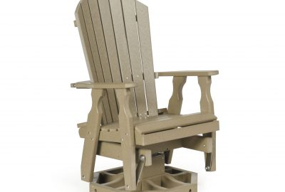 fan back swivel glider poly furniture for cabins