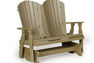 fanback double glider poly furniture for cabins