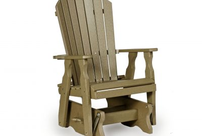 fanback glider poly furniture for cabins